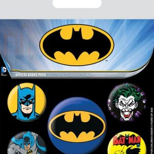 Значки Batman 5 бр. Комплект