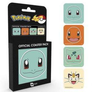 Комплект Подложки за Чаши (Coaster) Pokemon - 4 бр.
