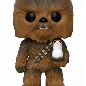 Funko POP! Фигурка - Star Wars Episode VIII - Chewbacca and Porg 9 cm