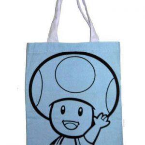 Super Mario Пазарска Чанта (Tote Bag) - Toad