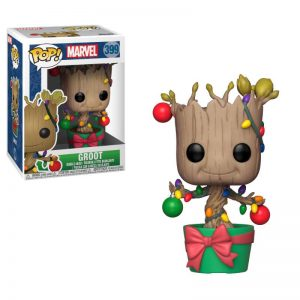 Коледна Funko POP! Фигурка - Groot (Lights and Ornaments) 9 cm Marvel Comics POP! Marvel Holiday