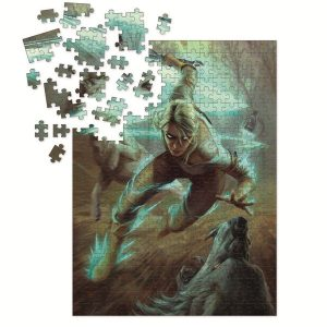 Deluxe Пъзел Witcher 3 Wild Hunt - Ciri and the Wolves Puzzle 1000 части