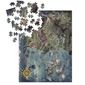 Deluxe Пъзел Witcher 3 Wild Hunt - Northern Realms Map Puzzle 1000 части