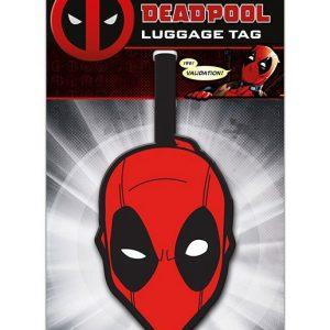 Гумен етикет за име и адрес Deadpool Luggage Tag Head