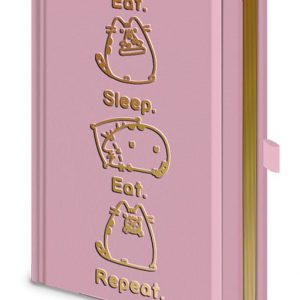 Тефтер Pusheen Premium Notebook A5 Eat. Sleep. Eat. Repeat.