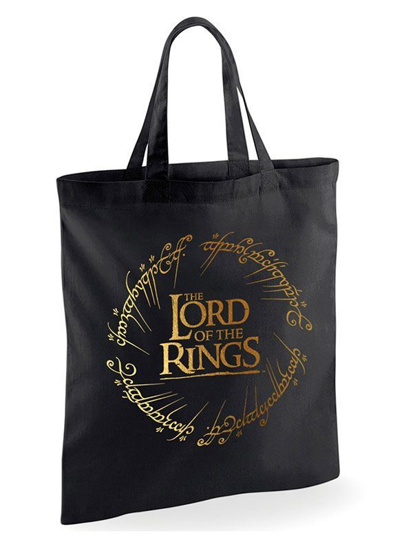Чанта Lord of the Rings Tote Bag Gold Foil Logo