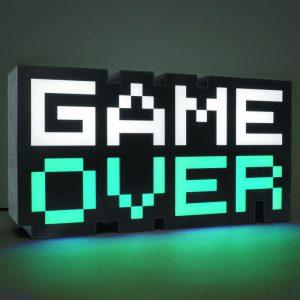 Голяма геймърска лампа Game Over 8-BIT 30 cm