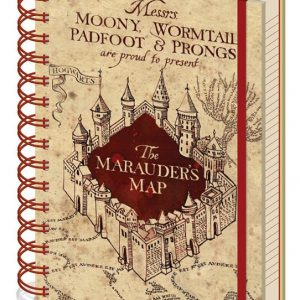 Тефтер със спирала Harry Potter Хари Потър Notebook A5 Marauders Map