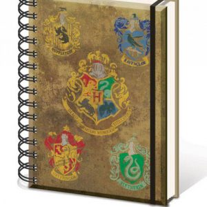 Тефтер със спирала Harry Potter A5 Hogwart's Crests