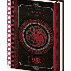 Тефтер със спирала Game of Thrones Wiro Notebook A5 Targaryen