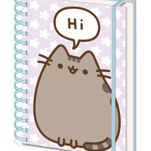 Тефтер със спирала Pusheen Wiro Notebook A5 Pusheen Says Hi
