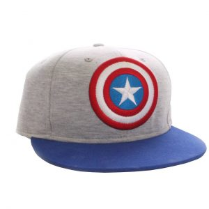 Шапка Captain America Marvel Vintage Logo grey Adjustable Cap