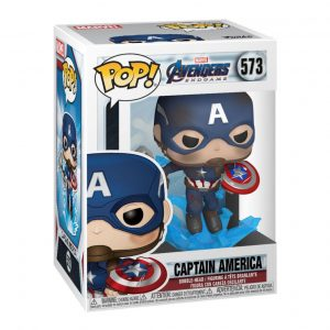 Funko POP! Фигурка Marvel Avengers: Endgame - Captain America w/Broken Shield & Mjolnir 9 cm POP! Movies