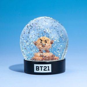 Снежно кълбо BT21 - Shooky 8 cm Characters Snow Globe Преспапие BTS