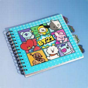 Тефтер BT21 Notebook Characters BTS
